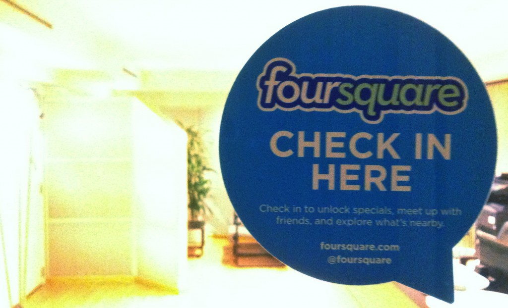 check in here foursquare